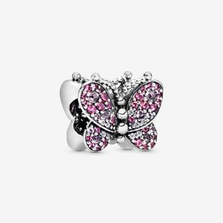 Pink Pavé Butterfly Charm