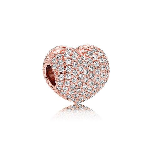 Pavé Open My Heart, PANDORA Rose™ & Clear CZ