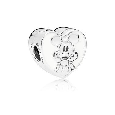 Disney, Vintage Mickey Clip, White Enamel