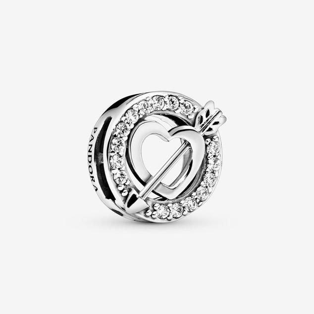 Asymmetrical Heart & Arrow Clip Charm