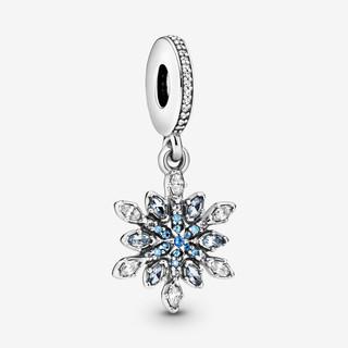 Shimmering Snowflake Dangle Charm