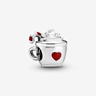 Cocoa & Candy Cane Charm