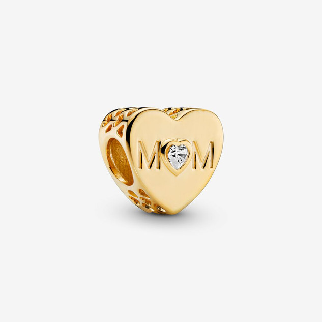Clear Mom Heart Charm