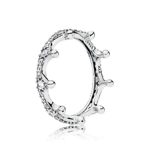 Enchanted Crown Ring, Clear CZ