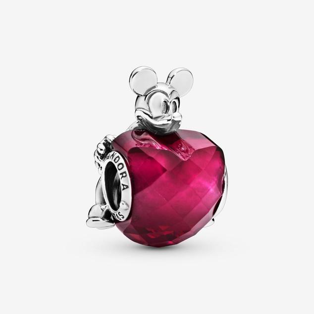 Disney Mickey Mouse & Heart Charm