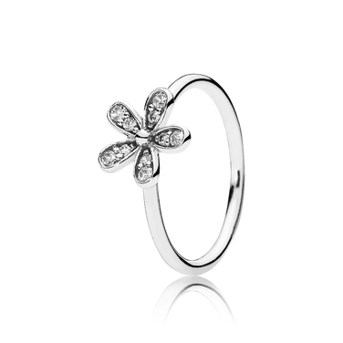 Dazzling Daisy Stackable Ring, Clear CZ