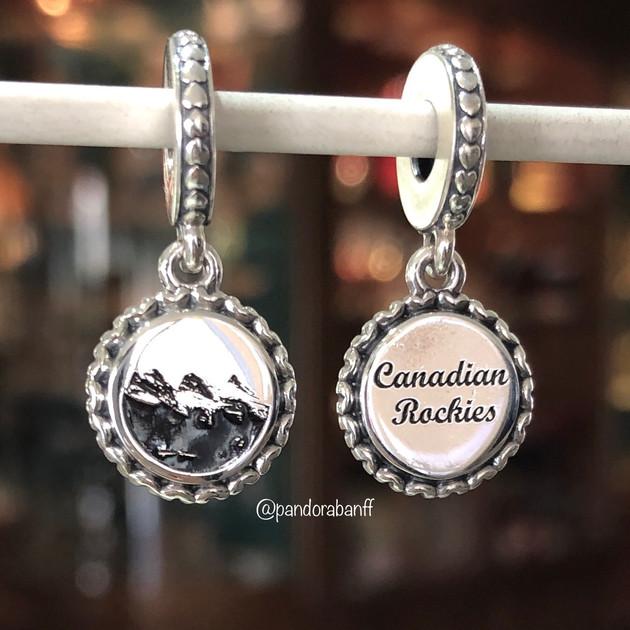 Three Sisters Canadian Rockies Dangle Charm