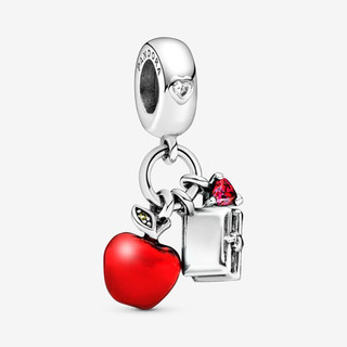 Disney Snow White's Apple & Heart Dangle Charm