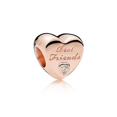 Friendship Heart, PANDORA Rose™ & Clear CZ