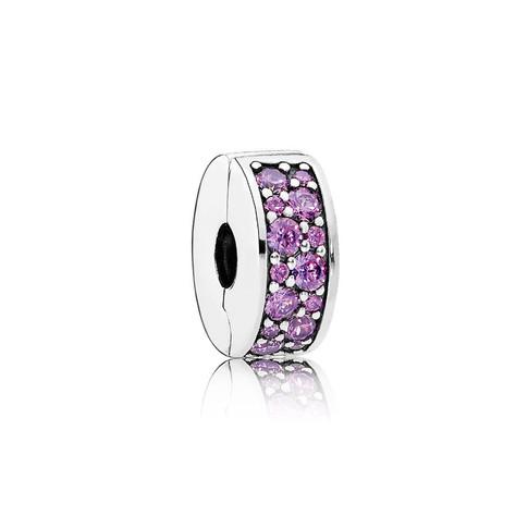 Shining Elegance Clip, Fancy Purple CZ