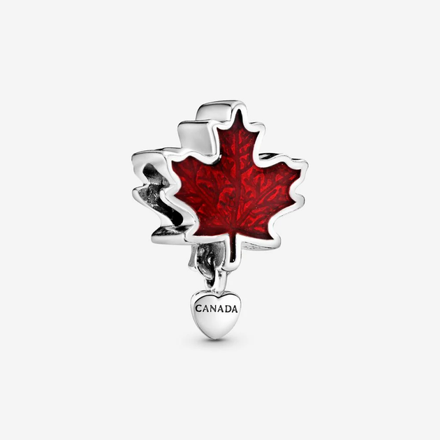 Canada Red Maple Leaf Charm