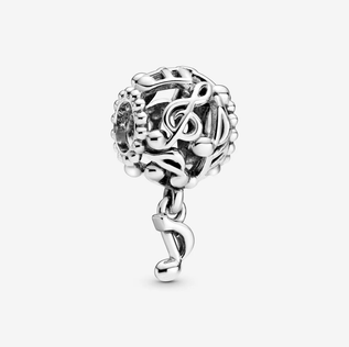 Openwork Music Notes Charm