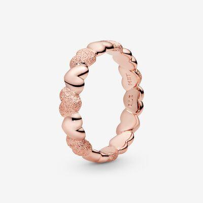Matte Brilliance Heart Band Ring