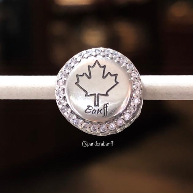 Banff Maple Leaf Charm