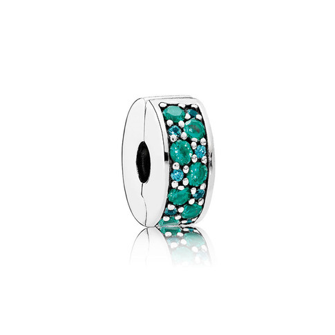 Mosaic Shining Elegance, Multi-Colored Crystals & Teal CZ