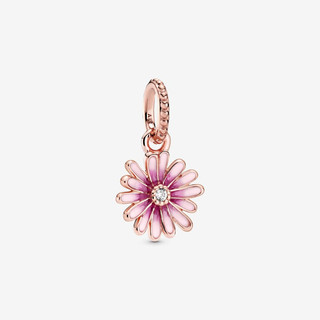 Pink Daisy Flower Dangle Charm