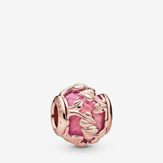Pink Decorative Leaves Charm