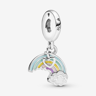 Rainbow & Cloud Dangle Charm