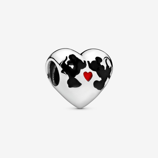Disney, Minnie Mouse & Mickey Mouse Kiss Charm