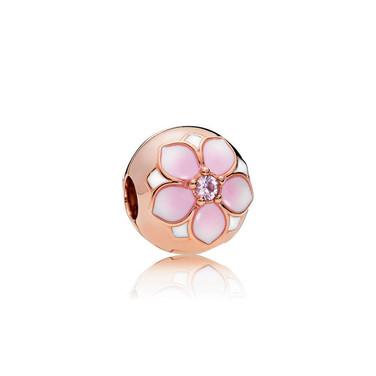 Magnolia Bloom Clip, PANDORA Rose™, Blush Pink Crystal & Mixed Enamel