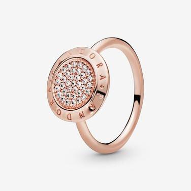 Pandora Logo Pavé Ring