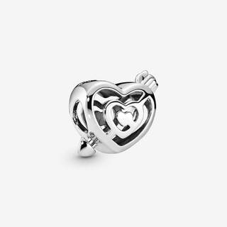 Openwork Heart Labyrinth & Arrow Charm