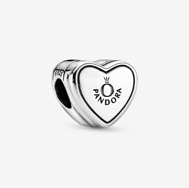 Pandora Logo Yes! Heart Charm