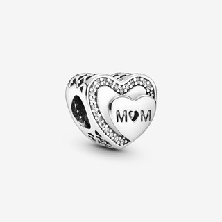 Sparkling Mom Heart Charm