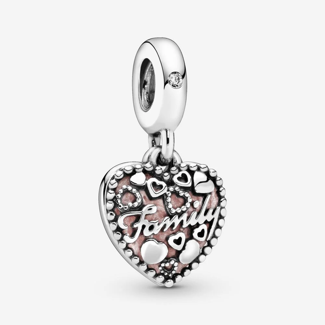 Love Makes A Family Heart Dangle Charm