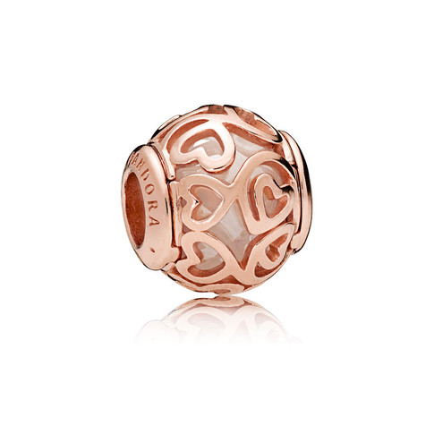 Hearts Filigree Charm, PANDORA Rose™ & Clear CZ