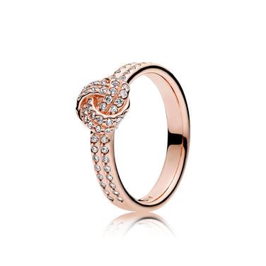 Sparkling Love Knot, PANDORA Rose™ & Clear CZ