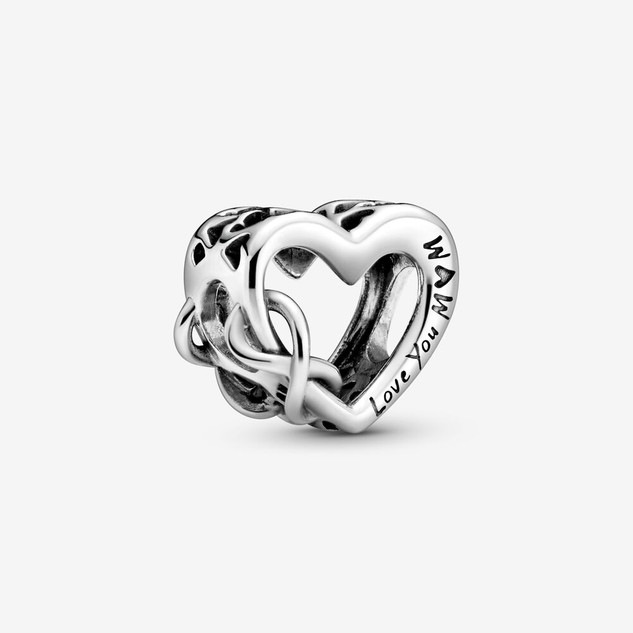 Love You Mom Infinity Heart Charm