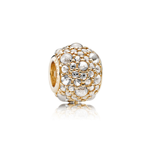 Shimmering Droplets, 14K Gold & Clear CZ