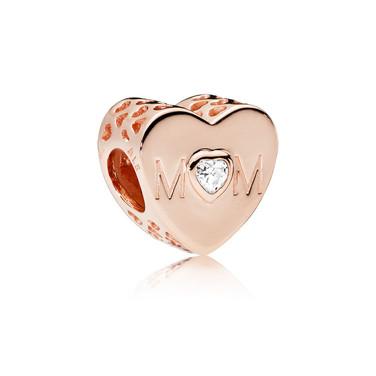 Mother Heart, PANDORA Rose™ & Clear CZ