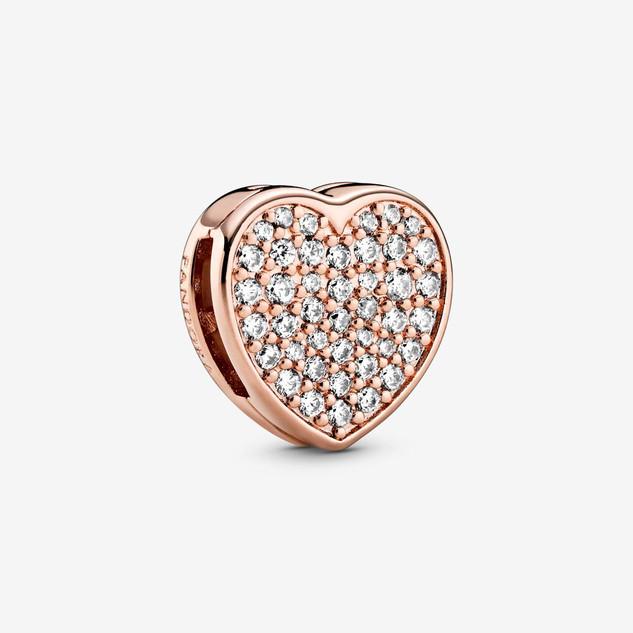 Pavé Heart Clip Charm