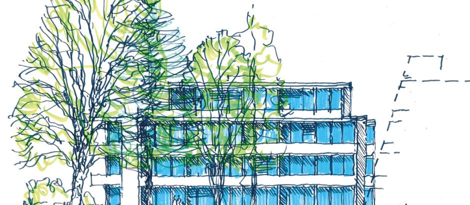 Vorentwurf für transparenten offenen Wohnungsbau in Memmingen