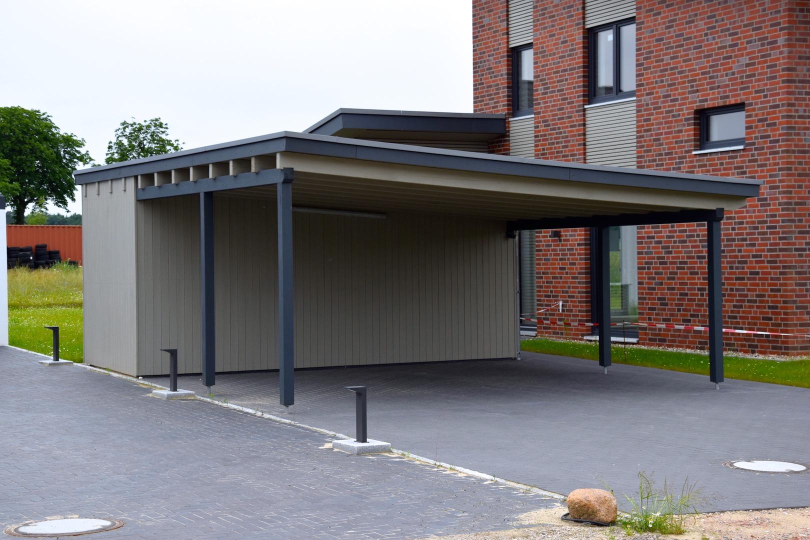 Ansicht Carport 1 | DENO Hausbau