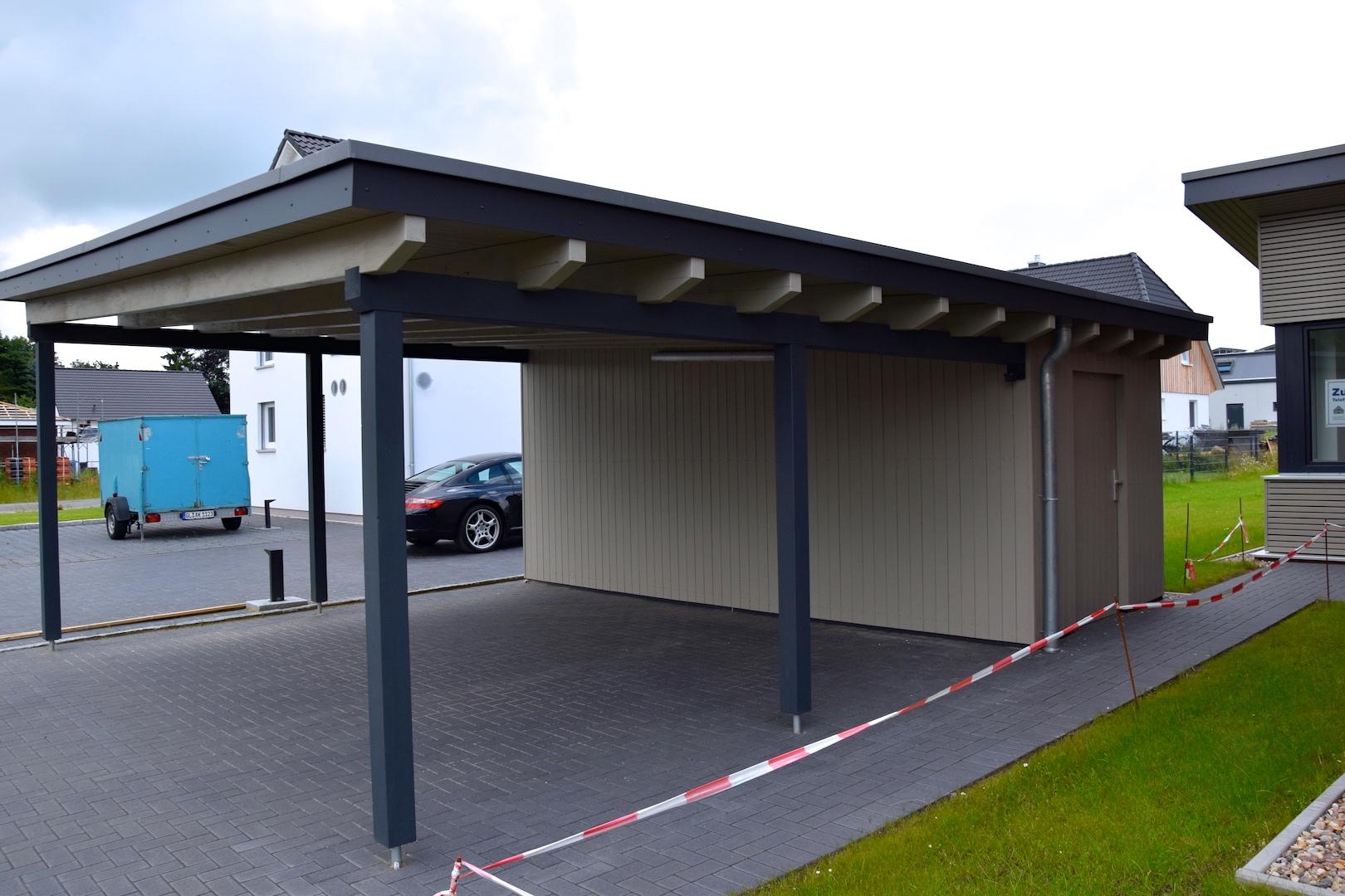 Ansicht Carport 2 | DENO Hausbau