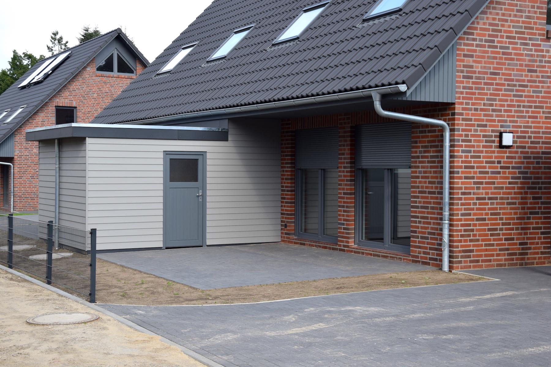 Ansicht Terrasse | DENO Hausbau