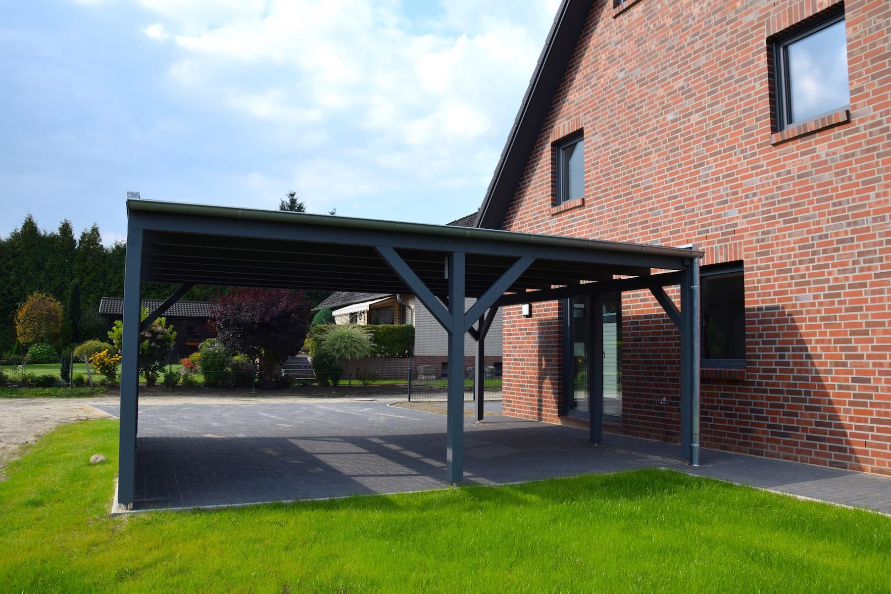 Ansicht Carport | DENO Hausbau
