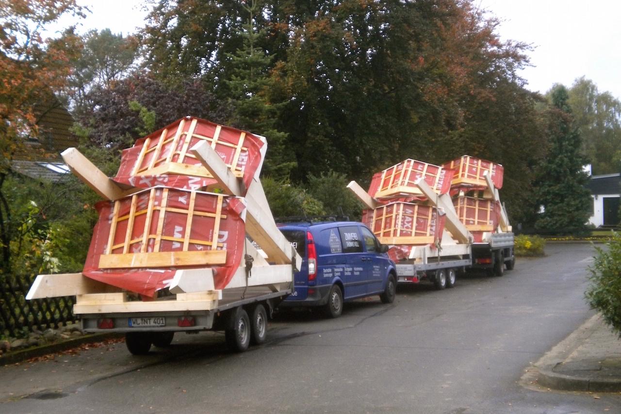 Transport von Dachgauben