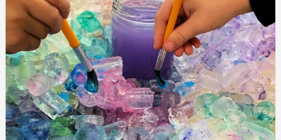 Spring Break workshop: Snow day ice painting