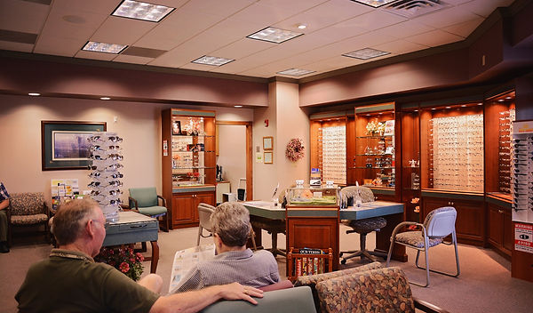 Eye care optical shop at Marion Eye Center in Marion, OH