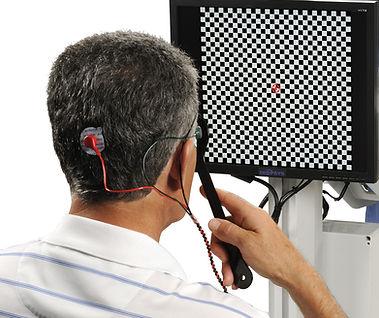 Electroretinogram (ERG) eye test at Marion Eye Center in Marion, OH