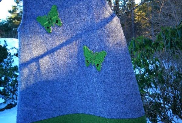 Grønn sommerfugl str.3 år