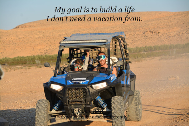 My goal is to build a life  I don't need