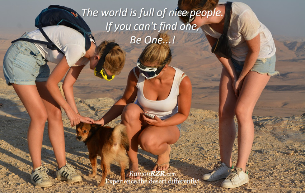 The world is full of nice people. If you can't find one, Be One...!