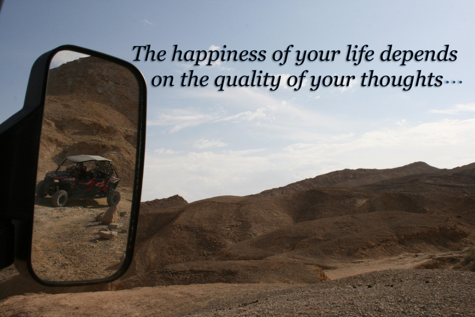 THE HAPPINESS OF YOUR LIFE DEPENDS  ON T