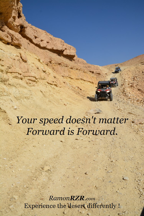 Your speed doesn't matter Forward is Forward.