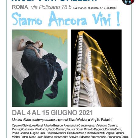 """Mostra collettiva d'arte contemporanea """"Siamo ancora vivi"""" a Roma dal 4 al 15 giugno 2021"""